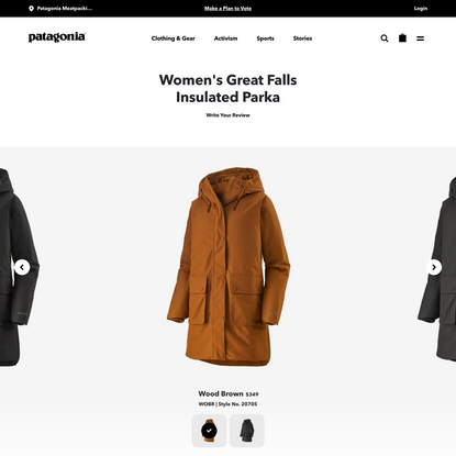 Patagonia Women's Great Falls Insulated Parka