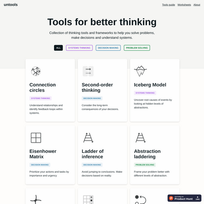 Tools for better thinking   Untools