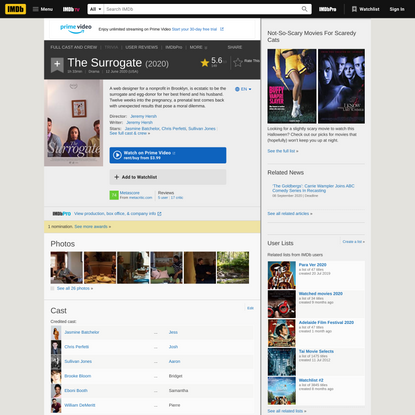 The Surrogate (2020) - IMDb
