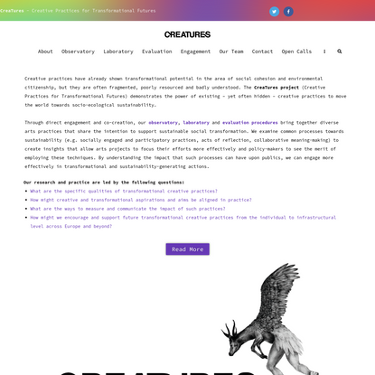 CreaTures - Creative Practices for Transformational Futures