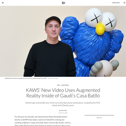 KAWS New Video Uses Augmented Reality Inside of Gaudi's Casa Batlló