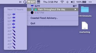 im gonna miss my custom made mac weather app once apple shuts darksky api down :(