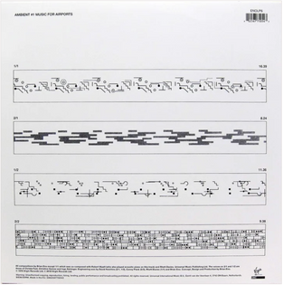 Brian Eno's Music for Airports, back cover