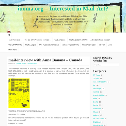 mail-interview with Anna Banana – Canada – iuoma.org – Interested in Mail-Art?