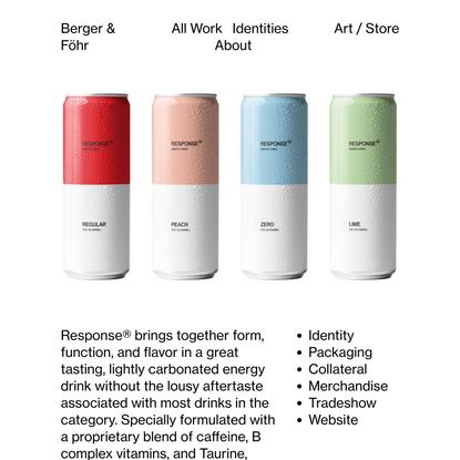 Response® Energy Drink — Berger & Fohr