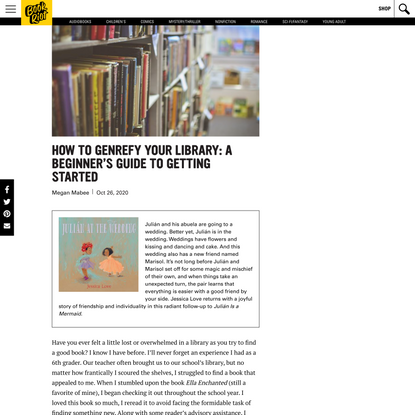 How to Genrefy a Library: A Beginner's Guide to Getting Started