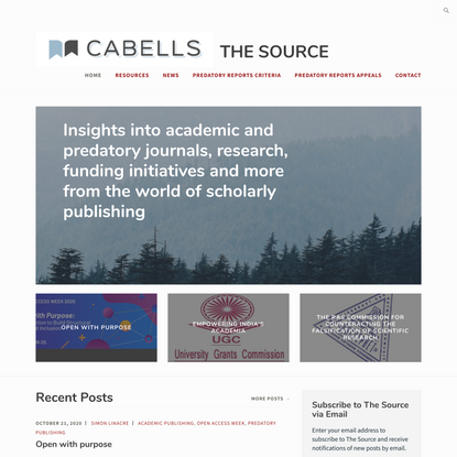The Source: Insights into academic and predatory journals, research, funding initiatives and more from the world of scholarl...
