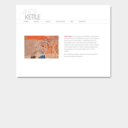 Alice Kettle | UK Textile Artist