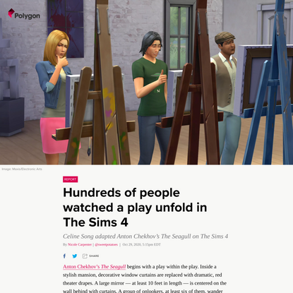 Hundreds of people watched a play unfold in The Sims 4