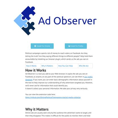 Ad Observer - Ad Observer