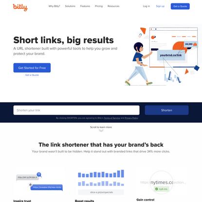 Bitly | Custom URL Shortener, Link Management & Branded Links