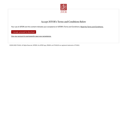 Accept Terms and Conditions on JSTOR