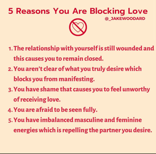 I think I *may be* blocking love most of my life tbh