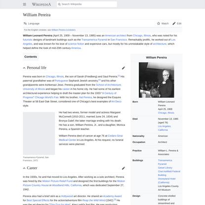William Pereira - Wikipedia