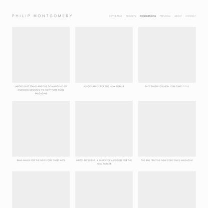 Commissions — Philip Montgomery