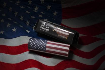 American Flag Logs