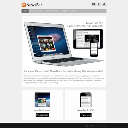 NewsBar - RSS news reader for OS X and iOS with iCloud sync