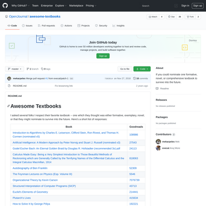 OpenJournal/awesome-textbooks