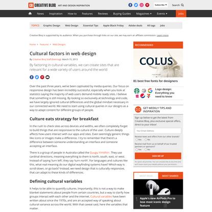 Cultural factors in web design
