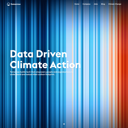 Tomorrow - Data Driven Climate Action