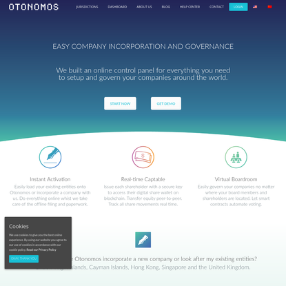 Online company incorporation and corporate governance | Manage your companies online with Otonomos