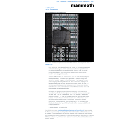 a preliminary atlas of gizmo landscapes - mammoth // building nothing out of something