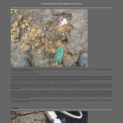 the earthcodes project: substrate/shifting the site of execution