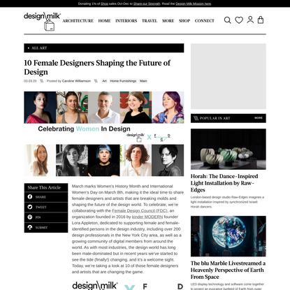 10 Female Designers Shaping the Future of Design