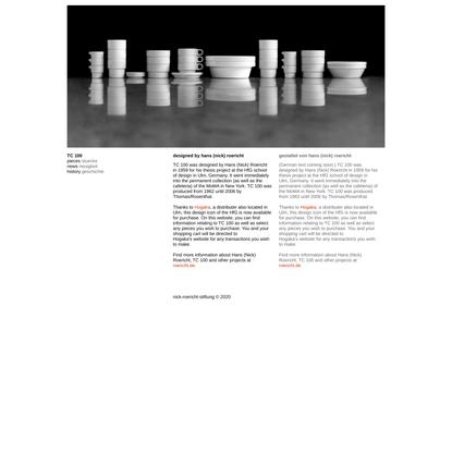 TC100 stackable ceramic tableware stapelgeschirr | hans nick roericht | hfg hochschule fuer gestaltung | ulm germany
