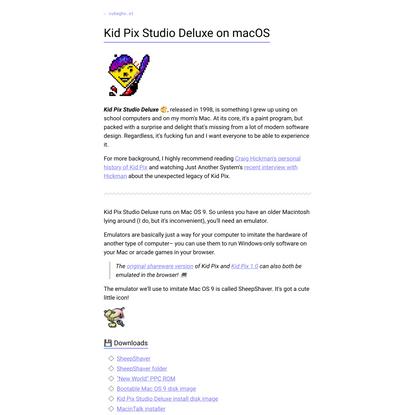Kid Pix Studio Deluxe on macOS   cubegho.st