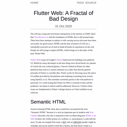 Flutter Web: A Fractal of Bad Design