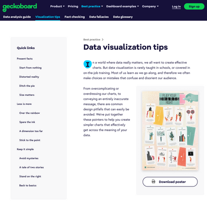 Data visualization tips for clear communication | Geckoboard