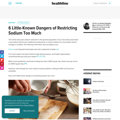 6 Little-Known Dangers of Restricting Sodium Too Much