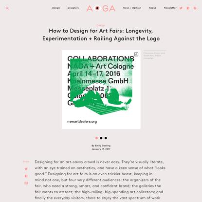 How to Design for Art Fairs: Longevity, Experimentation + Railing Against the Logo