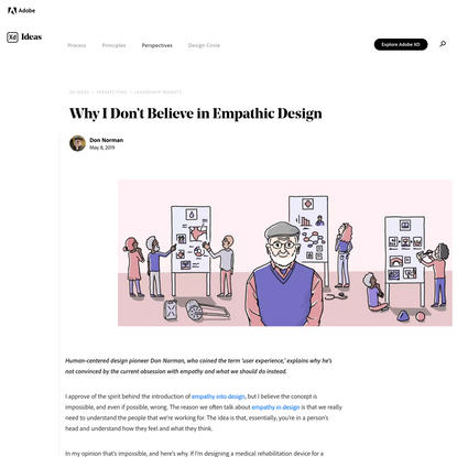 Why I Don't Believe in Empathic Design | Adobe XD Ideas