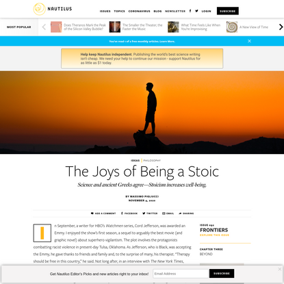 The Joys of Being a Stoic - Issue 92: Frontiers - Nautilus