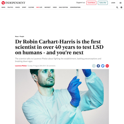 Dr Robin Carhart-Harris is the first scientist in over 40 years to