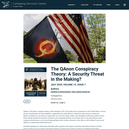 The QAnon Conspiracy Theory: A Security Threat in the Making? – Combating Terrorism Center at West Point