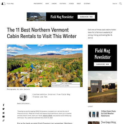 The Best Northern Vermont Cabins to Rent This Winter