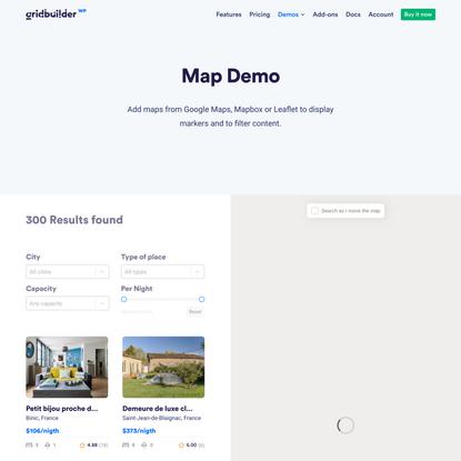 Map Demo - Gridbuilder ᵂᴾ