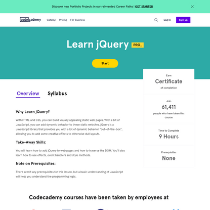 jQuery Tutorial: Learn jQuery For Free   Codecademy