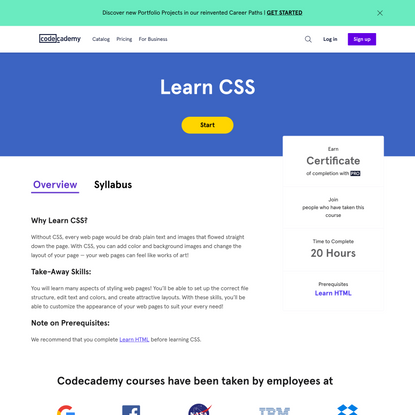 CSS Tutorial: Learn CSS For Free   Codecademy