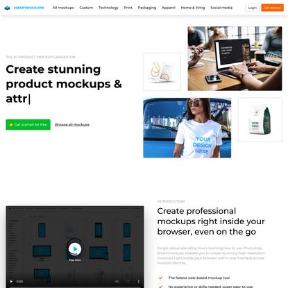 Smartmockups - Free product mockup generator