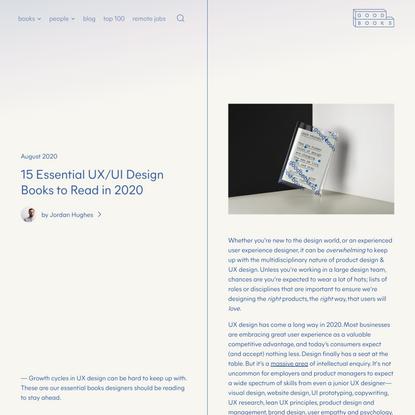 15 Essential UX/UI Design Books to Read in 2020   Good Books