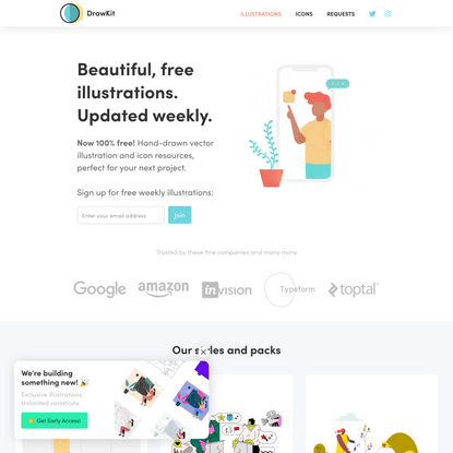 DrawKit - Beautiful free vector illustrations