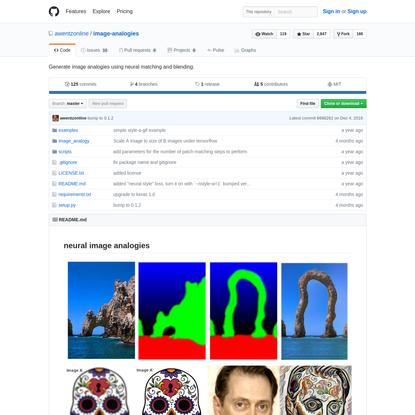 awentzonline/image-analogies