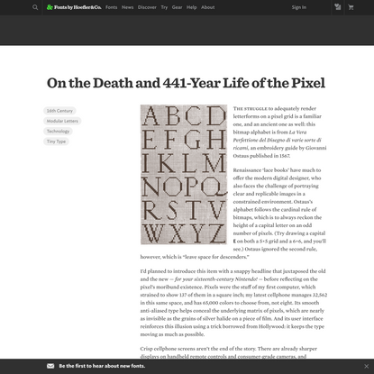 On the Death and 441-Year Life of the Pixel | Fonts by Hoefler&Co.