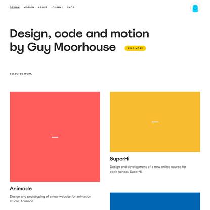 Selected Work – Guy Moorhouse, Designer
