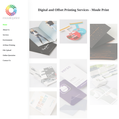 24 Hour Digital Printing Services - Offset Printing Services - Moule Print
