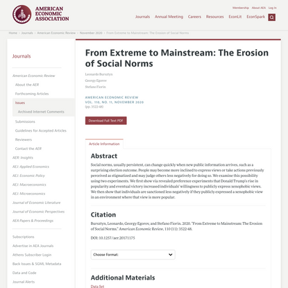 From Extreme to Mainstream: The Erosion of Social Norms